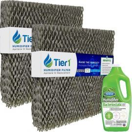 Tier1 Aprilaire #10 Aftermarket Humidifier Replacement Water Panel - 2PK Replacement with BestAir Humidifier Bacteriostatic Water Treatment