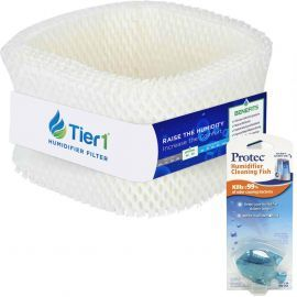 Kaz WF1/ Emerson HDF 1 Comparable Tier1 Humidifier Wick Filter with Humidifier Tank Fish