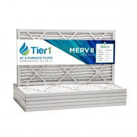 12x30x1 Merv 8 Universal Air Filter By Tier1 (6-Pack)
