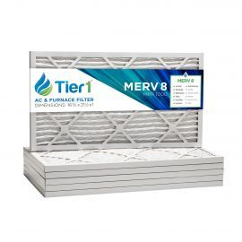 16 3/8x21 1/2x1 Merv 8 Universal Air Filter By Tier1 (6-Pack)