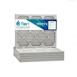 20x23x1 Merv 8 Universal Air Filter By Tier1 (6-Pack)