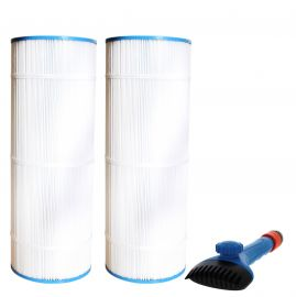 CX1100-RE Comparable Pool and Spa Filter (2-Pack) and Pool Filter Cleaning Brush by Tier1