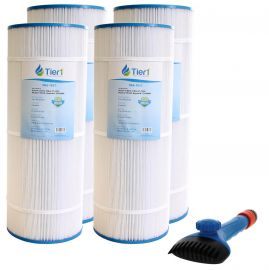 Tier1 CX-1200-RE Comparable Pool and Spa Filter (4-Pack) and Pool Filter Cleaning Brush