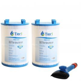 Tier1 1561-00 Comparable Pool and Spa Filter (2-Pack) and Pool Filter Cleaning Brush
