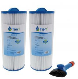 Tier1 6541-383 Comparable Pool and Spa Filter (2-Pack) and Pool Filter Cleaning Brush