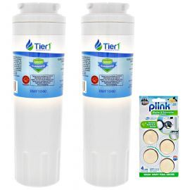 Tier1 EveryDrop EDR4RXD1 Maytag UKF8001 Comparable Refrigerator Water Filter and Plink Washer and Dishwasher Cleaner (2 Pack)