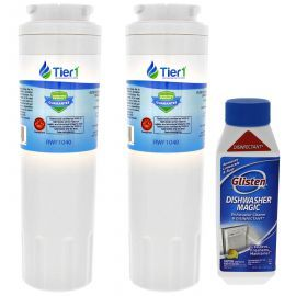 Tier1 Maytag EDR4RXD1 EveryDrop UKF8001Comparable Refrigerator Water Filter Replacement and Glisten Dishwasher Magic Dishwasher Cleaner Bundle (2-Pack)