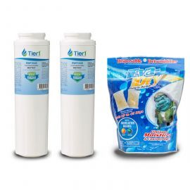UKF8001 Replacement Brand Filter (2-Pack) and E-150 Eva-Dry Silica gel moisture absorbing pouch twin pack by Tier1