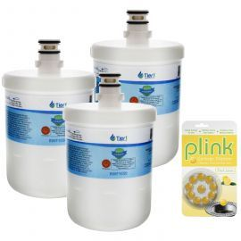 Tier1 LG 5231JA2002A / LT500P Comparable Refrigerator Water Filter and Plink Garbage Disposal Cleaner (3 Pack)
