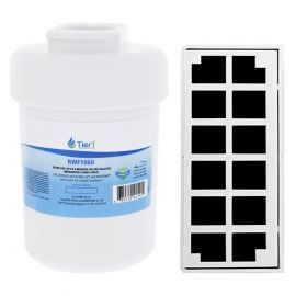 GE MWF Comparable Refrigerator Water & Odor Air Filter Combo by Tier1