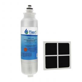Tier1 LG LT800P and LT120F Comparable Refrigerator Water Filter and Air Filter Combo