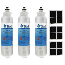 LT800P and LT120F LG Comparable by Tier1 Refrigerator Water Filter and Air Filter Combo (3-Pack)