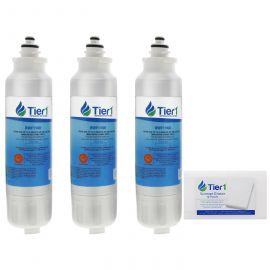 Tier1 LG LT800P Comparable Refrigerator Water Filter Replacement (3-Pack) and Magic Erasing Sponge (12-Pack) kit