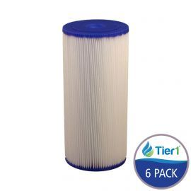 Pleated 10 inch x 4.5 inch Sediment Water Filter by Tier1 (20 Micron) (6 Pack)