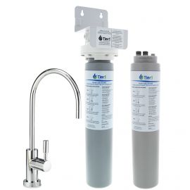 Tier1 Smart Tap Under Sink Water Filtration System with Drinking Water Faucet and Replacement Filter