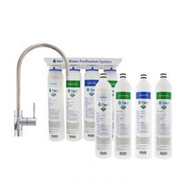 Tier1 4-Stage Ultra-Filtration Hollow Fiber Quick-Change Water Filter System with Filter Change Set