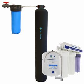 Tier1 Eco Series Whole House Chlorine Reduction System + Reverse Osmosis System (4 -6 Bathrooms)