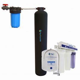 Tier1 Eco Series Whole House Chlorine Reduction System + Under Sink Reverse Osmosis System (1 - 3 Bathrooms)