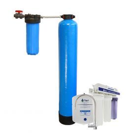 Essential Certified Series Whole House Water Filtration System for Chlorine, Taste & Odor Reduction - with Under Sink Reverse Osmosis System by Tier1