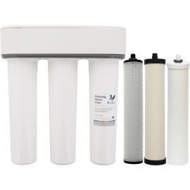 Doulton W9380002 Three Stage HIP3 Undersink Water Filtration System with 3x Doulton Water Filters