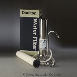 Doulton W9331208 HCS Countertop Water Filtration System With  UltraCarb SI Ceramic Candle Filter