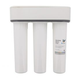 Doulton W9380002 Three Stage HIP3 Undersink Water Filtration System with 4x Ceramic Candle Filters