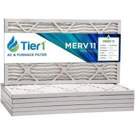 Tier1 16 x 21 x 1  MERV 11 - 6 Pack Air Filters (P15S-611621)