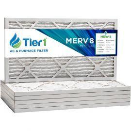 Tier1 14 x 20 x 1  MERV 8 - 6 Pack Air Filters (P85S-611420)