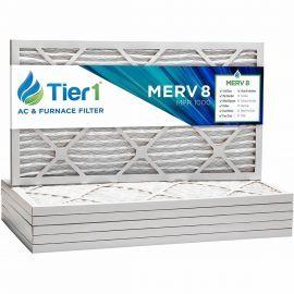 20x25x1 Merv 8 Universal Air Filter By Tier1 (6-Pack)