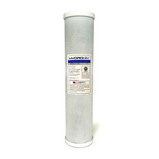 4.5 x 20-10 Micron Hydronix CB-45-2010 Whole House Commercial Industrial NSF Coconut Activated Carbon Block Water Filter
