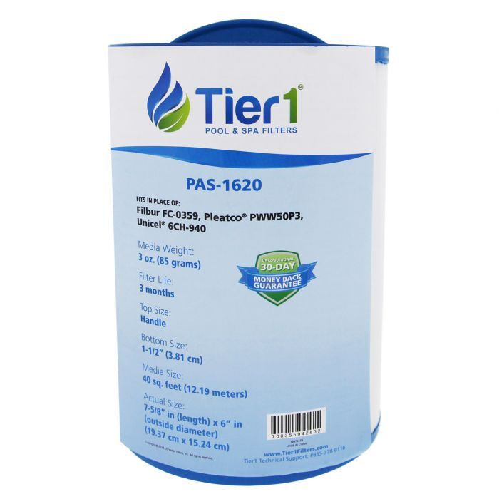 Tier1 Replacement for Waterways 817-0050 Unicel 6CH-940 Spa Filter Cartridge Filbur FC-0359 Pleatco PWW50 Front Access Skimmer